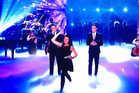Natalie Holt stormed onto the <i>Britain's Got Talent</i> stage to pelt judge Simon Cowell and fellow judges with eggs.  Photo / Supplied