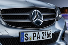 Flashy LED/fibre optic version of Mercedes Benz triple-pointed star. Factory option. Photo / Supplied
