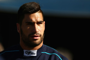 James Tamou walks out of the tunnel during a New South Wales Blues state of origin training session. Photo / Getty Images