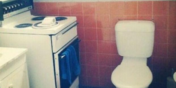 Kitchen/bathroon combo.