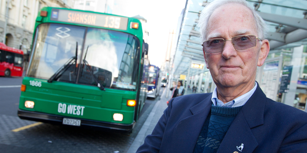 Allen Davies enjoys the conviviality of his job as a bus driver - and the pay. Photo / Richard Robinson