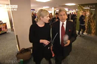 Rebecca Wright's door-stopping of Winston Peters seemed rather like TV3 self-marketing. Photo / Campbell Live