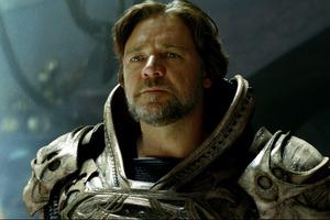 Russell Crowe as Jor-El in Man of Steel.