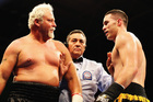 Frans Botha (left) believes Joseph Parker is destined for a world title shot if managed correctly. Photo / Getty Images