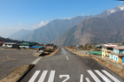 The airstrip with a 11-degree incline at Tenzing-Hillary Airport, Lukla. Photo / Rebecca Kennedy