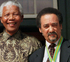Nelson Mandela, left, and Jakes Gerwel, right, pose for a photograph in 1999 in Cape Town, South Africa. Photo / AP