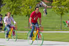 Owen Wilson, left, and Vince Vaughn in a scene from The Internship.