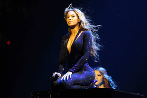 Beyonce on the opening night of her Mrs. Carter Show World Tour.Photo / AP