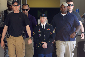 As Bradley Manning stands trial for revealing military emails to WikiLeaks founder Julian Assange,US civil rights watchers say journalists are being targeted for doing their job. Photo / AP