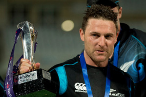 New Zealand captain Brendon McCullum is turning on the charm but also needs to turn on the runs.  Photo / AP
