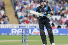 Martin Guptill turns from the crease as he is given out caught off the bowling of Australia's Clint McKay. Photo / AP