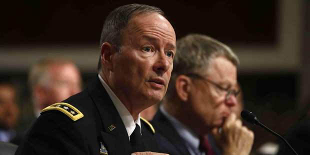 Director of the National Security Agency (NSA), Gen. Keith B. Alexander, left, and Rand Beers, Acting Deputy Secretary of Homeland Security, testify in Washington. Photo / AP