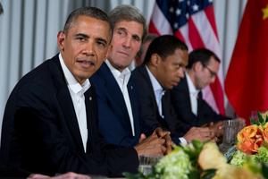President Barack Obama and Secretary of State John Kerry. Photo / AP