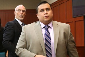 George Zimmerman is charged with second degree murder over the shooting of Trayvon Martin . Photo / AP