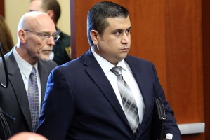 George Zimmerman arrives for his trial, along with co-counsel Don West. Photo / AP