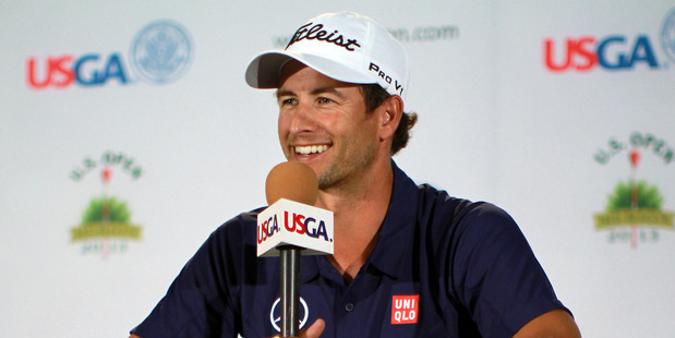 Australian Adam Scott has been grouped with the world's top two golfers, Tiger Woods and Rory McIlroy, for the US Open tournament. Photo / AP