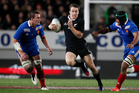 All Blacks Ben Smith in action against France. Photo / Richard Robinson