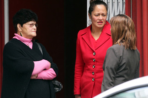 Ina (left) and Ena Croft outside Auckland District Court. Photo / Doug Sherring