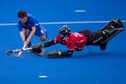New Zealand Black Sticks goalkeeper Devon Manchester.