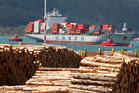 Demand for New Zealand log exports is pushing up the price of local timber. Photo / Mark Mitchell