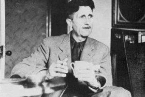 George Orwell in his Islington Flat in 1945. File photo / NZ Herald