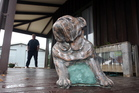 A bulldog statue stolen from his Flaxmere owner is now back on deck after being returned at the weekend.  Photo / Paul Taylor