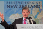 Reserve Bank Governor Graeme Wheeler announcing the OCR is to remain at 2.5 percent during his press conference in Wellington. Photo / Mark Mitchell
