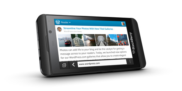 The BlackBerry Z10.