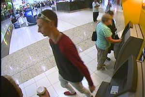 Police are looking for this man, who they believe stole $27000 from a 90-year-old woman.