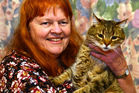 Diane Yeldon with her cat, Teddy, yesterday. Photo / Debbie Porteous