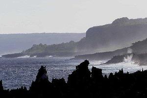 Waves crash at Christmas Island. Photo/Supplied