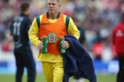 David Warner carries the drinks during Australia's ODI against the Black Caps. Photo /Getty Images