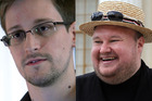 An Australian barrister has recommended Edward Snowden take a leaf out of Kim Dotcom's book and seek refuge in New Zealand. Photo / AP / Duncan Brown