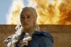 Daenerys Targaryn in a scene from Game of Thrones.