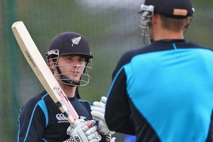 Kane Williamson  takes part in the New Zealand nets session at Edgbaston. Photo / Getty Images