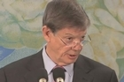 Reserve Bank governor Graeme Wheeler said he's likely to keep the official cash rate at 2.5 per cent through 2013, repeating his view that the kiwi dollar is overvalued and that he stands ready to intervene again if needed.