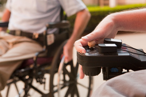 People using electric wheelchairs will be able to control their smart phones with the chair's joystick. Photo / Thinkstock