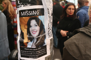 A missing poster for Jill Meagher is taped to a lamppost in Melbourne. Photo / Getty Images
