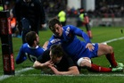 Ben Smith crosses over for All Blacks. Photo / Getty Images