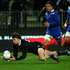 Beauden Barrett  collects the loose ball to score a try during the third test match between the All Blacks and France. Photo / Getty Images