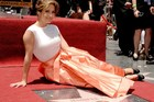 Actress/singer Jennifer Lopez is honored with the 2500th star on the Hollywood Walk of Fame. Photo / AFP