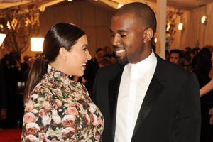Kim Kardashian and Kanye West. Photo / AP