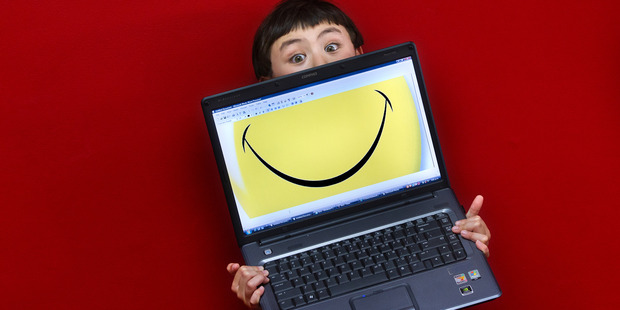 A laptop through Computers Against Isolation is helping autistic Rotorua boy Edward Haynes talk to family and come out of his shell. Photo / Stevem Parker, Daily Post