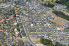 Aerial view of houses in Rosedale / Albany. Photo / Chris Gorman