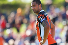 Wests Tigers star Benji Marshall says his ongoing contract negotiations are the furthest thing from his mind, but he wants to stay at the club for the rest of his NRL career. Photo / AAP.