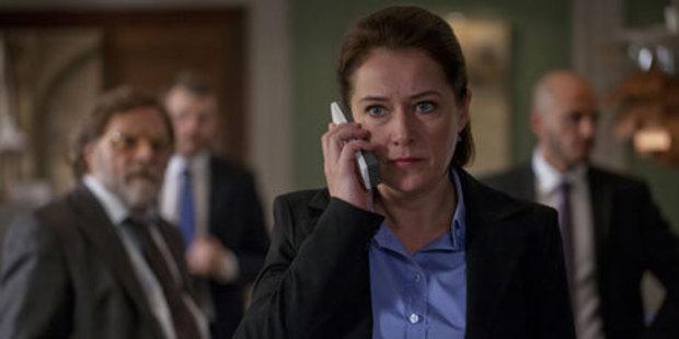 Sidse Babett Knudsen as Birgitte Nyborg in 'Borgen'.