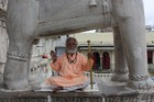 Holy Sadhu men can be found in every temple. Photo / Paul Rush