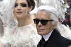 Karl Lagerfeld during the Chanel Spring-Summer 2013 Haute Couture show. Photo / Snapper Media