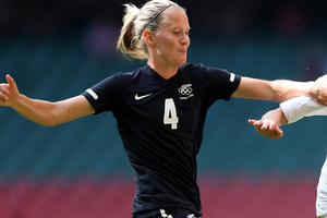 Katie Hoyle of the Football Ferns. Photo / Getty Images.