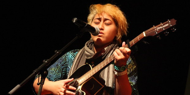 Khona Va'aga-Gray won the afternoon session of Smokefree Rockquest. Photo / Chris Philips